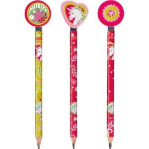 Dicker Bleistift mit Radiergummi-Topper