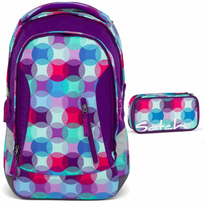 ergobag rucksack satch sleek hurly pearly set 2 tlg. Black Bedroom Furniture Sets. Home Design Ideas