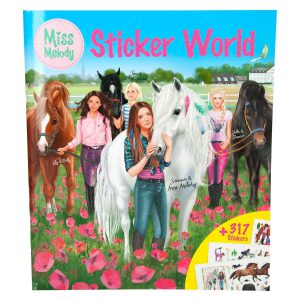 Miss Melody Stickerworld Mal und Stickerbuch