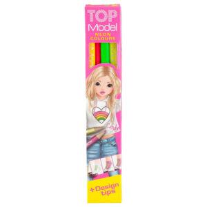 TOPModel Buntstifteset 4 Neon Farben