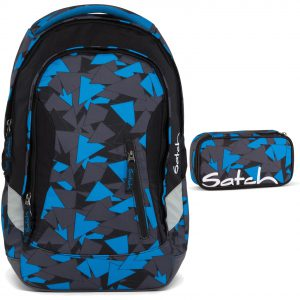 Schulrucksack Sleek Blue Triangle