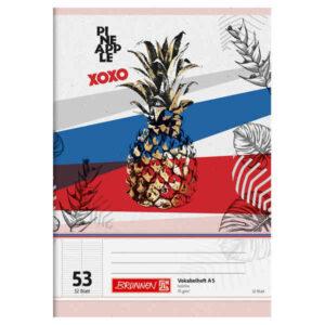 Vokabelheft Pineapple