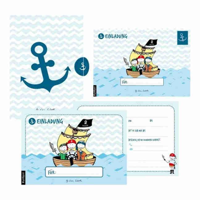 Einladungskarten Piraten