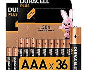 Duracell Plus AAA Micro Alkaline Batterien LR03, 36er Pack [Amazon exclusive]