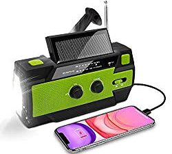 Nigecue Solar Radio, Tragbar Kurbelradio Dynamo Radio mit AM/FM